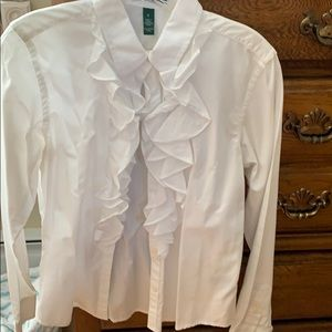 RL Womens ruffled blouse.